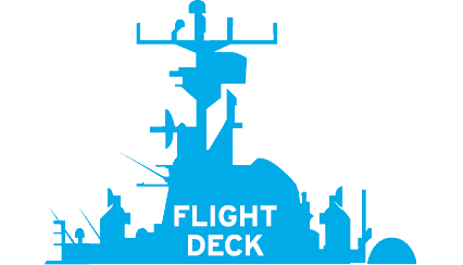 Diagram of cross section of the Intrepid, showing the top level: Flight Deck